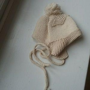 Baby tan knit hat